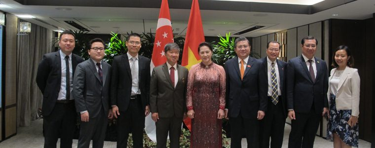 Meeting with Her Excellency Madame Nguyen Thi Kim Ngan, Chairwoman of National Assembly of Vietnam in Singapore
